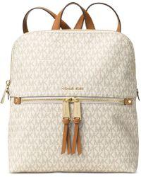 MICHAEL Michael Kors Logo Medium Backpack - Natural