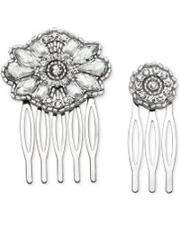 Badgley Mischka - 2-pc. Set Crystal Hair Combs - Lyst