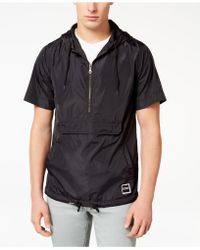 Ezekiel - Half-zip Short-sleeve Hooded Windbreaker - Lyst