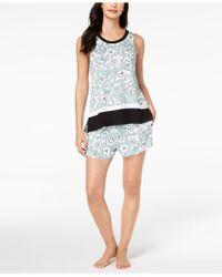 DKNY - Contrast-print Boxer Pajama Set - Lyst