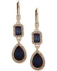 Ivanka Trump - Pavé & Stone Double Drop Earrings - Lyst