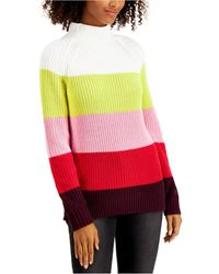 Style & Co. Cotton Mock-neck Sweater, Created For Macy's - Red