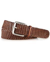 Polo Ralph Lauren - Accessories, Savannah Braided Leather Belt - Lyst