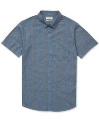 Billabong Sundays Jacquard Short Sleeve Shirt Navy Medium - Blue
