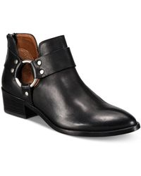 Frye Ray Leather Harness Booties - Black