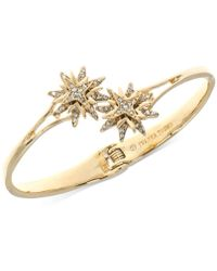 Ivanka Trump Gold-tone Pavé Starburst Hinged Cuff Bracelet - Metallic