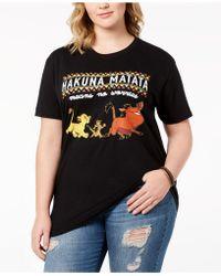 Disney Plus Size Cotton Lion King T-shirt - Black