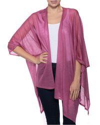 INC International Concepts Knit Ruana, Created For Macy's - Purple