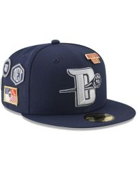 sports shoes 70e4b 5daee KTZ Detroit Pistons Combo Logo 59fifty Fitted Cap in Black for Men - Lyst