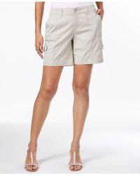 Style & Co. Comfort-waist Cargo Shorts - White