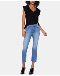 Sanctuary - Modern Standard Cropped Jeans In Solano Blue - Lyst