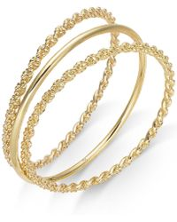 Charter Club - Gold-tone 3 Pc. Set Rope And Polished Bangle Bracelets, Created For Macy's - Lyst