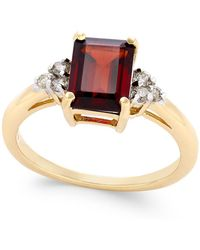 Macy's - Rhodolite Garnet (1-9/10 Ct. T.w.) And Diamond (1/8 Ct. T.w.) Ring In 14k Gold - Lyst