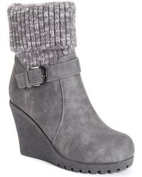 Muk Luks Georgia Boots - Gray