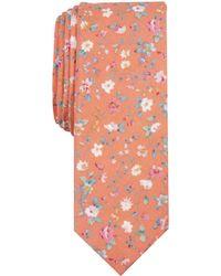 428fb3f65f8e Original Penguin Harkins Floral Skinny Tie in White for Men - Lyst