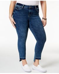 Rampage - Trendy Plus Size Sophie Central Wash High-low Jeans - Lyst