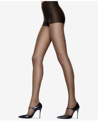 Hanes 6pk Silk Reflections Control Top Sandalfoot Silky Pantyhose Sheers 717 - Black