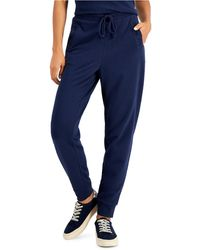 Charter Club Tapered Jogger Pants, Created For Macy's - Blue