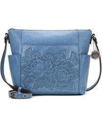 Patricia Nash Leather Aveley Crossbody - Blue