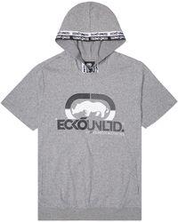 Ecko' Unltd Rhino Strong Short Sleeve Tape Hoodie - Grey
