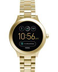 Fossil - Women's Venture Gen 3 Gold-tone Stainless Steel Bracelet Touchscreen Smart Watch 42mm - Lyst