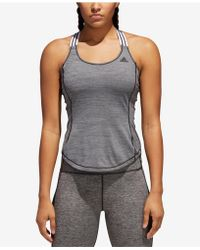 819668f2efdd5 Lyst - adidas U-back Training Tank Top in Black