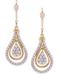 Wrapped in Love - Diamond Teardrop Orbital Drop Earrings (1 Ct. T.w.) In 14k Gold - Lyst