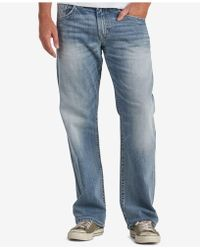 Silver Jeans Co. Men's Gordie Extra Loose-fit Straight Stretch Jeans - Blue