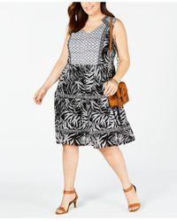 Style & Co. Plus Size Peasant Dress, Created For Macy's - Black