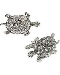 1928 - Jewelry Silver-tone Turtle Cufflinks - Lyst