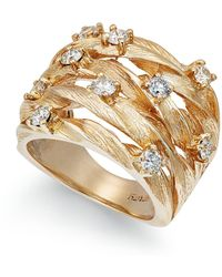 Effy Collection - Diamond Woven Ring (1 Ct. T.w.) In 14k Gold - Lyst