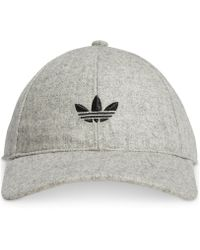 Lyst - adidas Original Treifoil Beanie in White for Men 94d4efc035b6