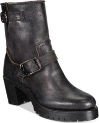 Frye - Women's Sabrina Moto Engineer Boots - Lyst