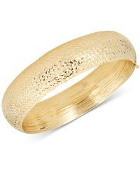 Macy's - Textured Wide Bangle Bracelet In 14k Gold - Lyst