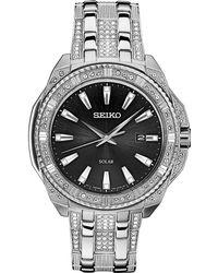 Seiko - Men's Solar Dress Stainless Steel Bracelet Watch 45mm - Lyst