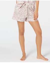 Charter Club Cotton Printed Sleep Shorts, Created For Macy's - Pink