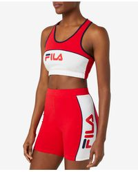 Fila Medium Impact Sports Bra - Red
