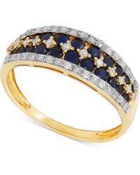 Macy's - Sapphire (1 Ct. T.w.) & Diamond (1/6 Ct. T.w.) Ring In 14k Gold - Lyst
