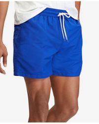bba6a8a2552c9 Polo Ralph Lauren Hawaiian Swim Shorts in Blue for Men - Lyst