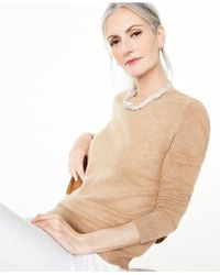 Charter Club Crew-neck Cashmere Sweater, Created For Macy's - Natural