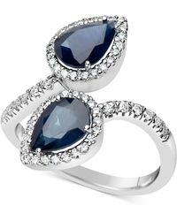 e3ed4a833 Lyst - Macy's Sapphire (1-1/10 Ct. T.w.) And Diamond (1/4 Ct. T.w. ...