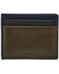 Fossil - Raymond Leather 2-in-1 Wallet - Lyst