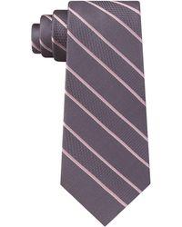 Michael Kors - Multi-weave Satin Stripe Silk Tie - Lyst