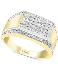 Effy Diamond Cluster Ring (7/8 Ct. T.w.) In 14k Gold & White Gold - Metallic
