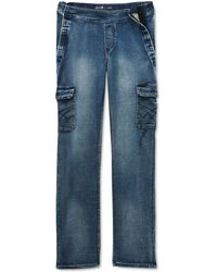 Seven7 Seated Mosset Pocketed Jeans - Blue