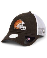 39f6b7da KTZ - Cleveland Browns Trucker Shine 9twenty Cap - Lyst