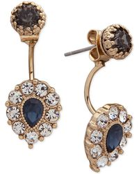 Lonna & Lilly - Gold-tone Crystal Jacket Earrings - Lyst