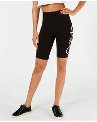 Calvin Klein Performance Logo High-waist Bike Shorts - Black