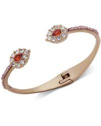 Lonna & Lilly - Gold-tone Crystal Cuff Bracelet - Lyst