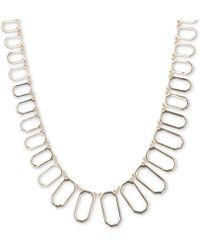 Ivanka Trump - Oval Link Statement Necklace - Lyst